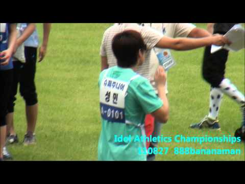 [fancam] 110827 Idol Athletics Championships Super Junior  Forcus Sungmin  3
