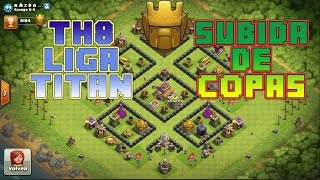 getlinkyoutube.com-DISEÑO DE ALDEA SUBIDA DE COPAS | AYUNTAMIENTO 8 TITAN | ANTI DRAGON | CLASH OF CLANS