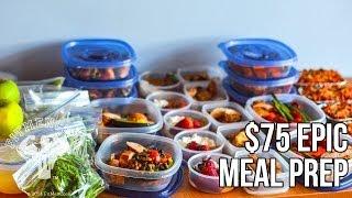 getlinkyoutube.com-FitMenCook $75 Epic Meal Prep: Bodybuilding Budget / Prep de Comida de $75