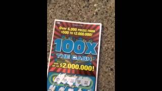 getlinkyoutube.com-WINNER! 100X The CASH | Michigan Lottery Scratch Off