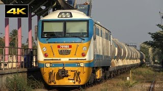 getlinkyoutube.com-SRT : Thai Railway 4K รถไฟไทย - CSR SDA4 70105 Shunting TPIPL Yard at Preng
