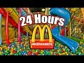 24 HOUR OVERNIGHT in MCDONALDS PLAYPLACE FORT  LOCKED in MCDONALDS PLAY PLACE OVERNIGHT
