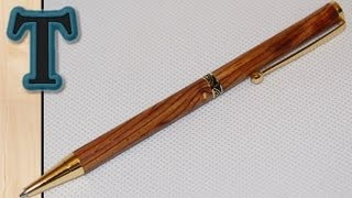 getlinkyoutube.com-How to Make a Wooden Pen