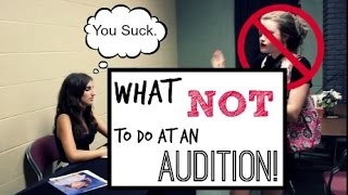 getlinkyoutube.com-What NOT to Do at an Audition!