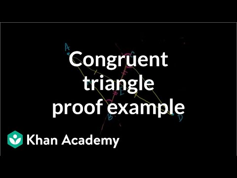 Congruent Triangle Proof Example