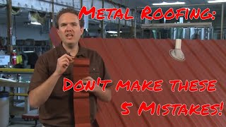 getlinkyoutube.com-5 Common Mistakes to Avoid When Installing Metal Roofing