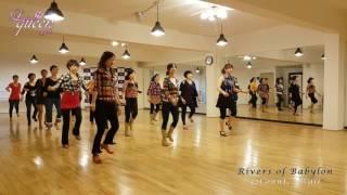 getlinkyoutube.com-Rivers of Babylon EZ Line Dance