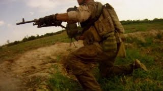 getlinkyoutube.com-TALIBAN AMBUSH RECON MARINES - 2 Helmet Cams