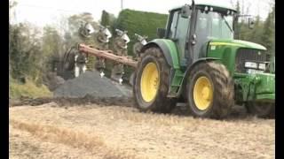 getlinkyoutube.com-John Deere 6820 and Fendt 718 ploughing and drilling