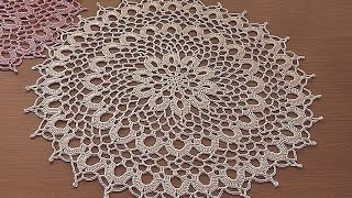 getlinkyoutube.com-Crochet doily tutorial  How to crochet doily  1-5 round Part 1