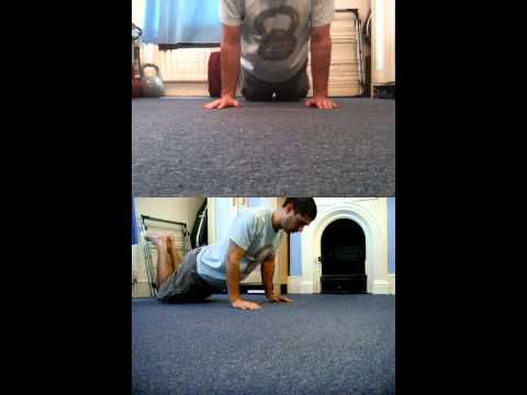 [No Audio] Pushup Progression - Step 3 - Kneeling Push Up.avi