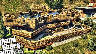 getlinkyoutube.com-Epic Military Base at Franklin's House - GTA 5 PC MOD