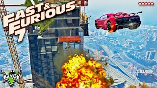 getlinkyoutube.com-GTA 5 EPIC FURIOUS 7 Building Jump Stunt Race!! FAST & FURIOUS Extreme Racing (GTA 5 Funny Moments)