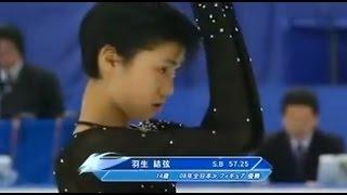 getlinkyoutube.com-【フィギュアスケート】 羽生結弦(14歳 ) 2008年 全日本選手権SP