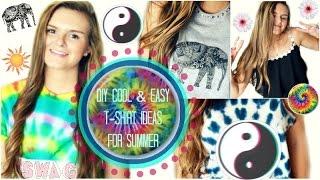 getlinkyoutube.com-DIY: Cool & Easy T-shirt Ideas for Summer!! ☼ | Jessica Reid