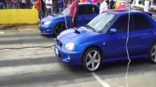 getlinkyoutube.com-05 SUBARU WRX vs Subaru WRX vs Turbo Civic