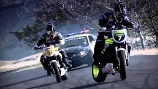 getlinkyoutube.com-Ken Block DC Police chase bikes, incredible drifting HD