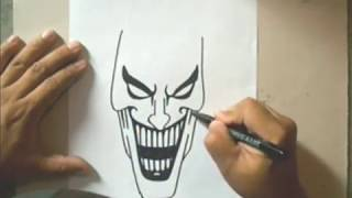 getlinkyoutube.com-How to Draw a Joker - Como Dibujar al Joker