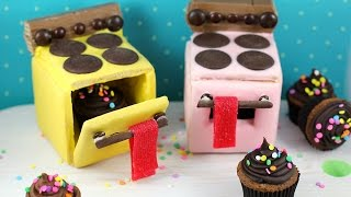getlinkyoutube.com-Mini Cookie Ovens! Edible Easy-bake Ovens made w/ candy, cupcakes and cookies!