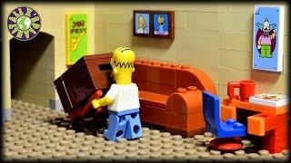 getlinkyoutube.com-Lego Simpsons Christmas.  How to catch Santa Claus.