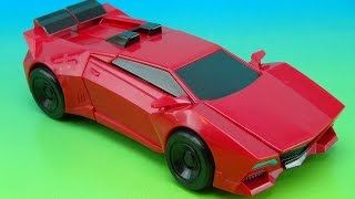 getlinkyoutube.com-SIDESWIPE ROBOTS IN DISGUISE 3 STEP CHANGER TOY REVIEW