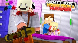 THERE'S A MURDERER IN THE BEDROOM!! Minecraft Murder Mystery Little Donny & Baby Leah Hypixel Games.