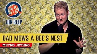 getlinkyoutube.com-David Reep mows a bee's nest