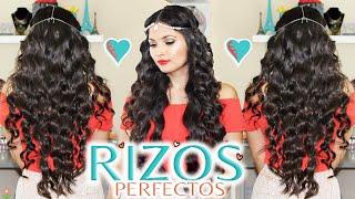 getlinkyoutube.com-Rizos Perfectos, Faciles y Duraderos ➰ Como Rizar el Cabello Largo 💜 Bessy Dressy