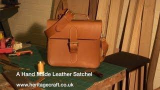 getlinkyoutube.com-Hand Made Leather Satchel