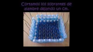 getlinkyoutube.com-bandeja y cofres hecho con tapas plasticas recicladas