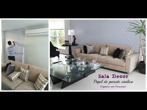 Salas Tour- Sala de Entrada: papel de parede vinílico + dicas de decoração