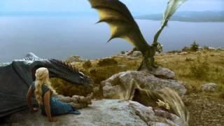 getlinkyoutube.com-Daenerys' Dragons Fight: Full Scene (S04 E01)