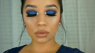 getlinkyoutube.com-Urban Decay Gwen Stefani Palette | Royal Blue Smokey Eye