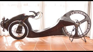 carbon recumbent low racer riding ..
