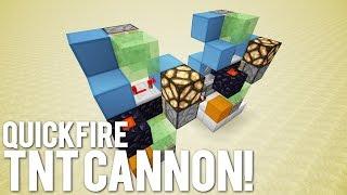 getlinkyoutube.com-Minecraft: The Quick Fire Cannon [Manual TNT Gun!]