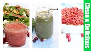 getlinkyoutube.com-3 Fresh & Easy Cranberry Recipes - Healthy Holiday Recipes