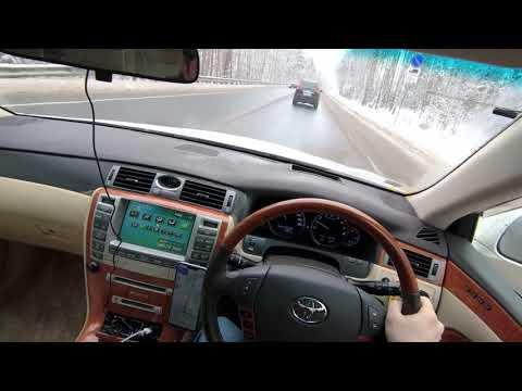POV video Toyota Crown Majesta UZS186, удобно ли обгонять на правом руле?