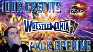 WRESTLEMANIA 33 (WM33) CRAZY 100K PACK OPENING!! | WWE SuperCard