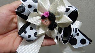 getlinkyoutube.com-flores,y moños en cinta , accesorios para el cabello, PaP, LAÇO SIMPLES DE FITA