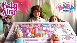 getlinkyoutube.com-BIGGEST BABY ACCESSORIES 100 BABY SETS FOR BABY BORN BABY ALIVE AND BAMBOLLINA DOLLS