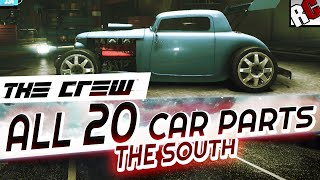 getlinkyoutube.com-The Crew - All Hidden Car Parts THE SOUTH - Achievement/Trophy Guide - Hot Rod Scrap Salvager