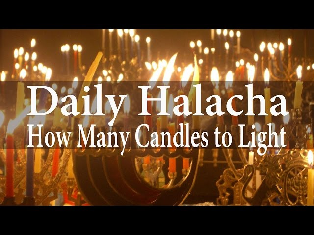 Chanukah - How Many Candles to Light