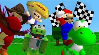getlinkyoutube.com-SM64 bloopers: The Great Yoshi Race.