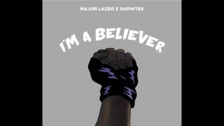 BELIEVER - MAJOR LAZER & SHOWTEK  karaoke version ( no vocal ) lyric instrumental