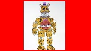 getlinkyoutube.com-How to draw Nightmare Fredbear, Five Nights at Freddy's characters