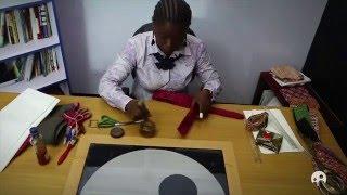 getlinkyoutube.com-Ankara Crafts - How to Make Belts and Wallets from Ankara Fabric