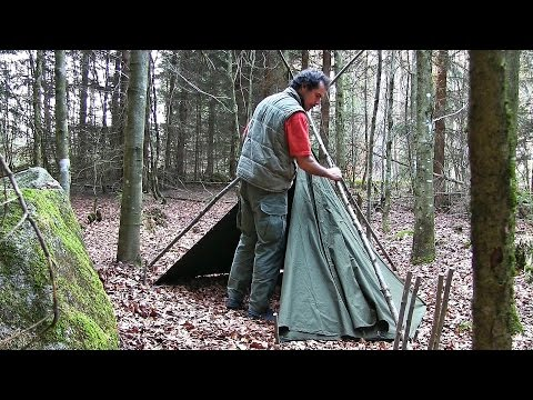 Journal of the Woodsman Day 1 - Camp Set Up, My Gear, Exploring the Forest nearby
