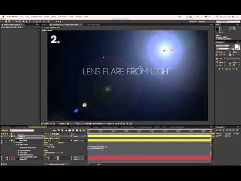 After Effects Expressions Tutorial - Glue a Lens Flare to a Light