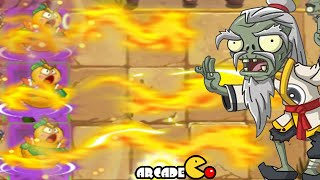 getlinkyoutube.com-Plants Vs Zombies 2: NEW PLANTS Carrot Launcher Fire Gourd NEW Costume Dragon Fire