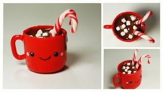 getlinkyoutube.com-polymer clay Kawaii Hot Chocolate TUTORIAL